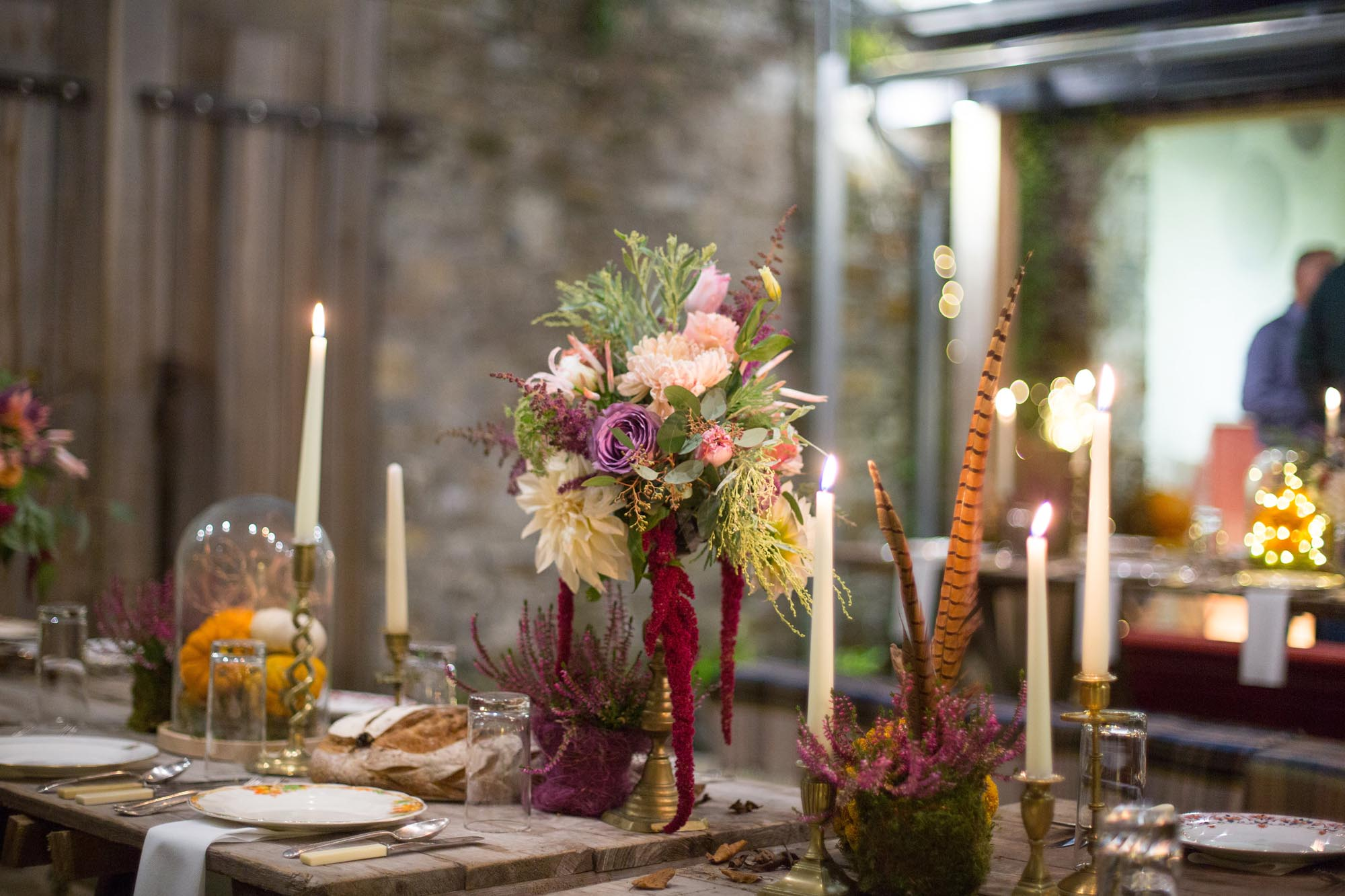 Feast and fire floral workshops for Coombe Trenchard Manor