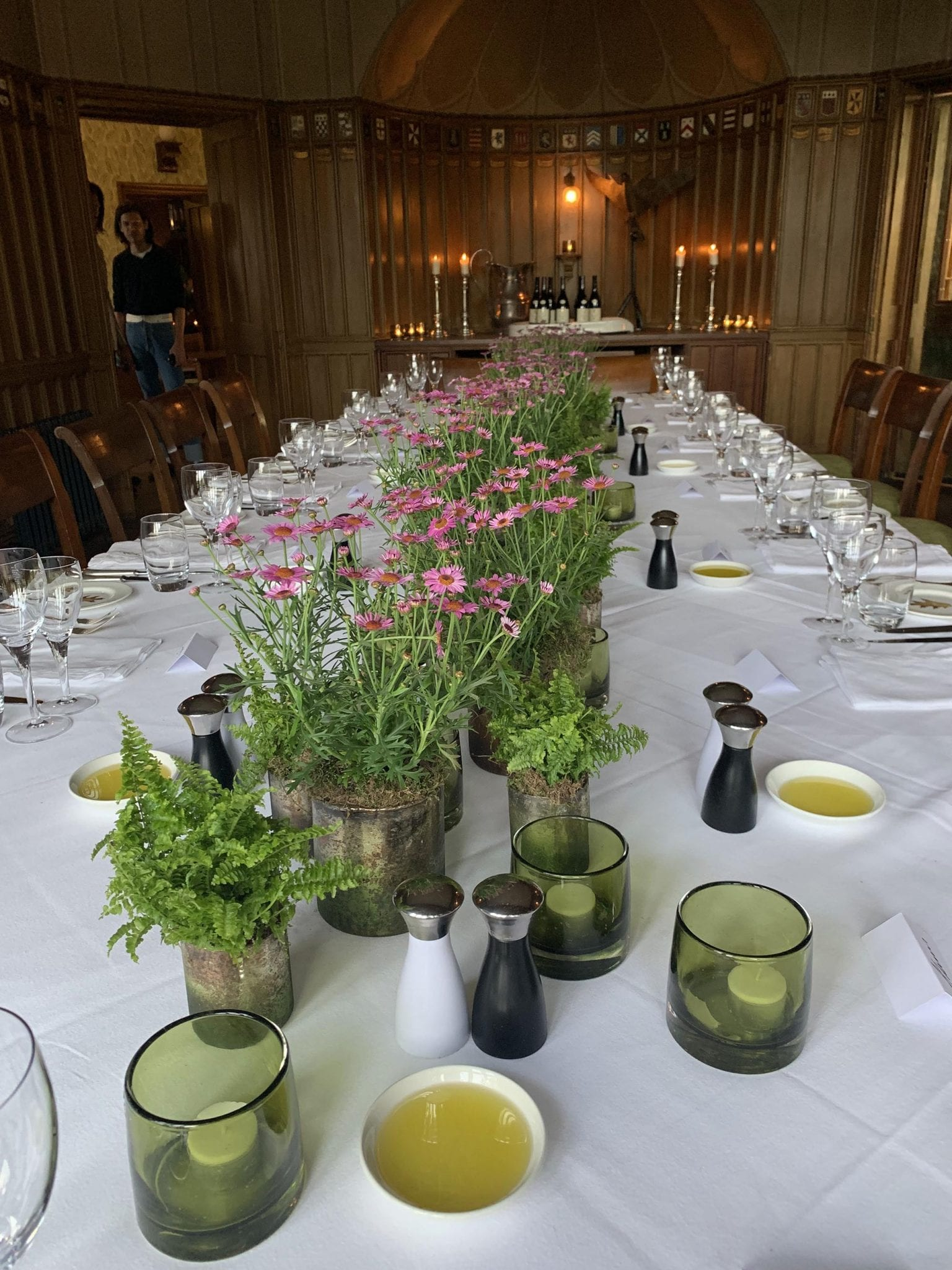 Table scape dinner party Hotel Endsleigh